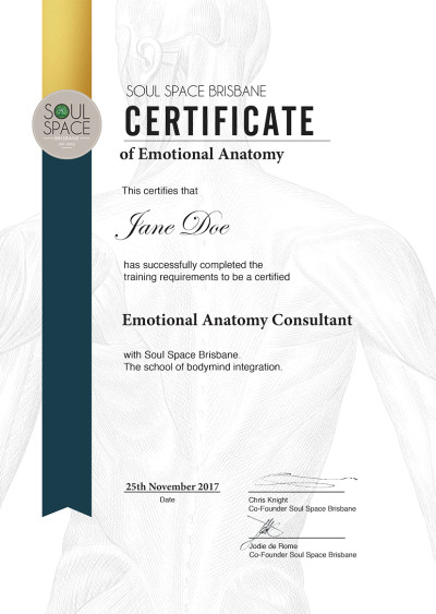 Certificate - Emotional Anatomy Consultant